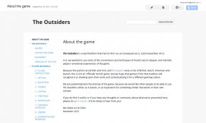 The front page of the site