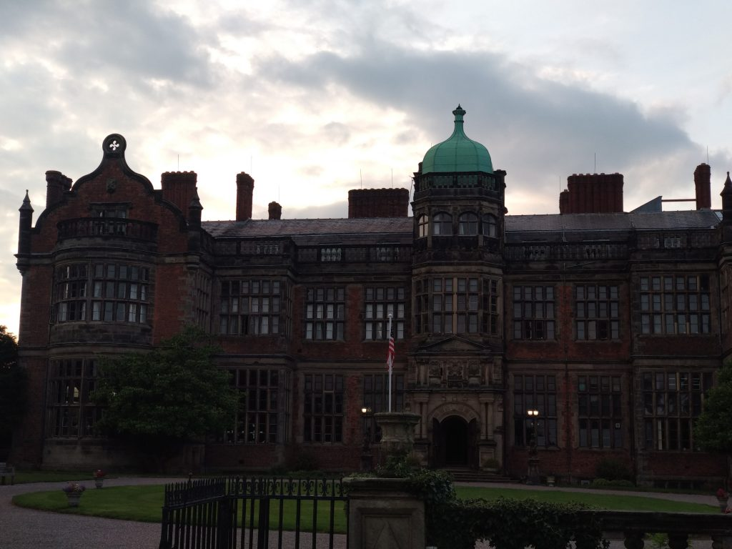 Ingestre Hall at dusk