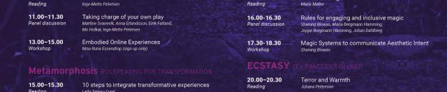 Knutepunkt Magic Book Weekend programme